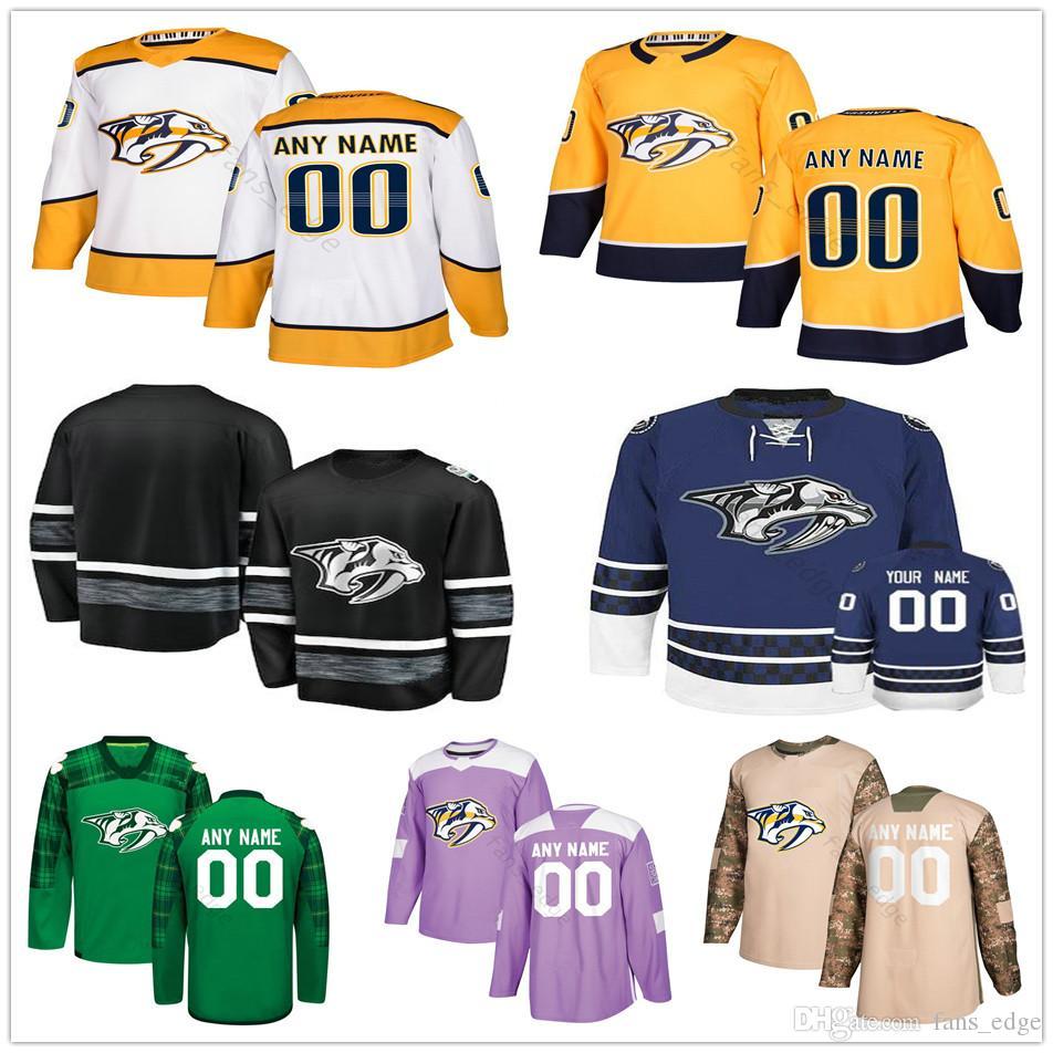 premium selection e8772 1b168 Custom Nashville Predators #19 Calle Jarnkrok 55 Cody McLeod 10 Colton  Sissons 15 Craig Smith Men Women Kids Youth Hockey Jerseys
