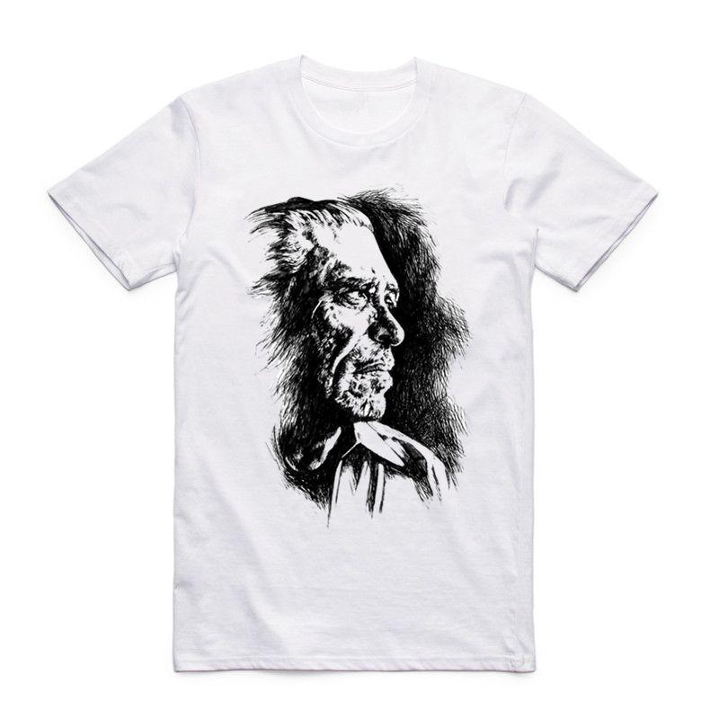 6d2261555892 S-xxx Hombres Mujeres The Charles Bukowski Camiseta Manga Corta O-cuello  Harajuku Vintage Literatura Literatura Poeta Literatura Fresca
