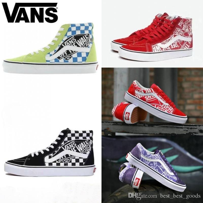 b7d6c5d1c8 2019 2019 VANS Old Skool G Dragon Style 36 SK8 Hi White Black Zapatillas De  Deporte Women Men Canvas Casual Skate Shoes Mens Trainers Sneakers From ...