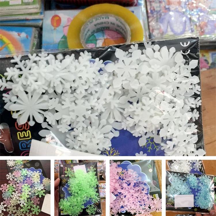 New noctilucent Patch Snowflake Patch Star Patchs Fluorescent Patchs Children's Bedroom paste Fluorescent Wall stick T6I6011