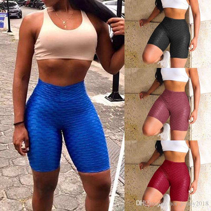 18e689b918501 2019 Vertvie Hot Sale Workout Running Leggings Athletic Wear Women High  Waist Yoga Shorts Tummy Control Fitness Gym Sports Trouser #357621 From .