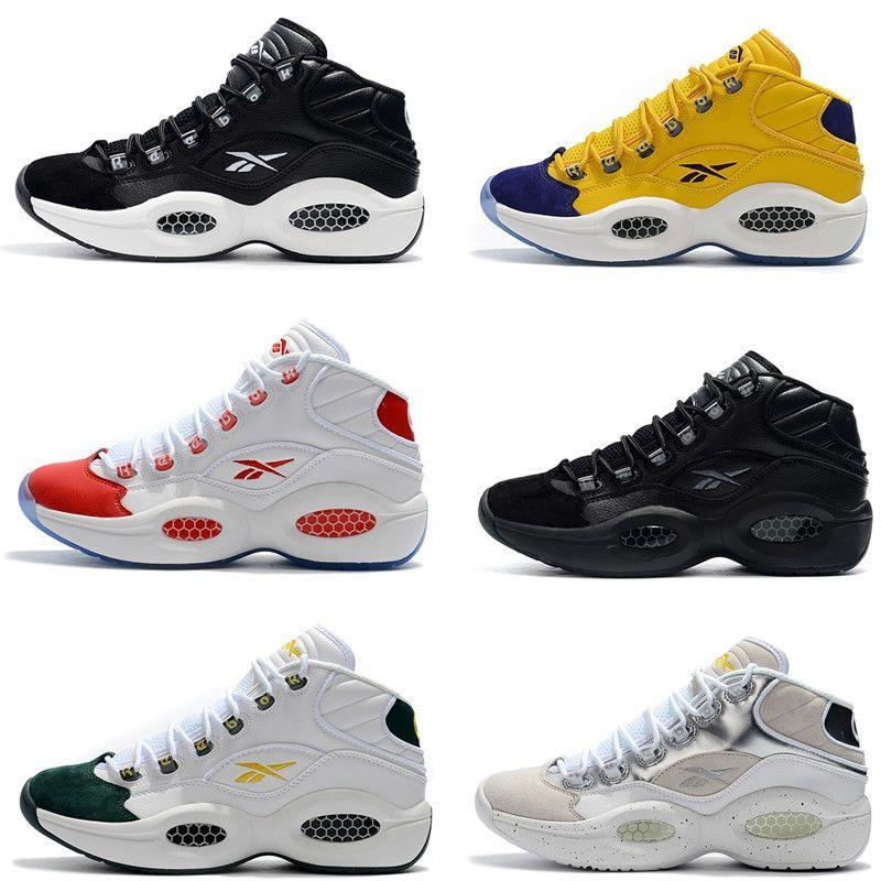96a20744c24 Compre Nueva Llegada 2019 Hombres Zapatillas De Deporte Mediados De Iverson  1 Allen Iverson Zapatos De Baloncesto Clásicos Buena Calidad Zapatillas ...