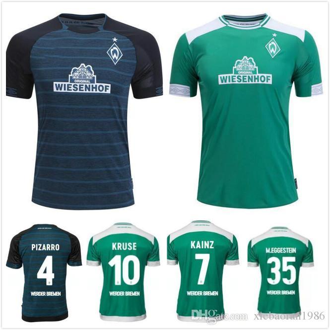 c98cc726a4 1 2018 2019 SV Werder Bremen 6 Kevin Möhwald Camiseta Verde Local Werder  Bremen Visitante Claudio Pizarro 4 Max Kruse Camisa Deportiva Footbal Por  ...