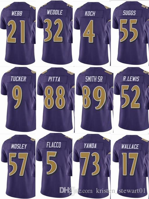 f2166a871 2019 RAVENS Baltimore #57 CJ Mosley #52 Ray Lewis Mens #55 Terrell Suggs #9  Justin Tucker #5 Men Women Youth Color Rush Elite Football Jerseys From ...