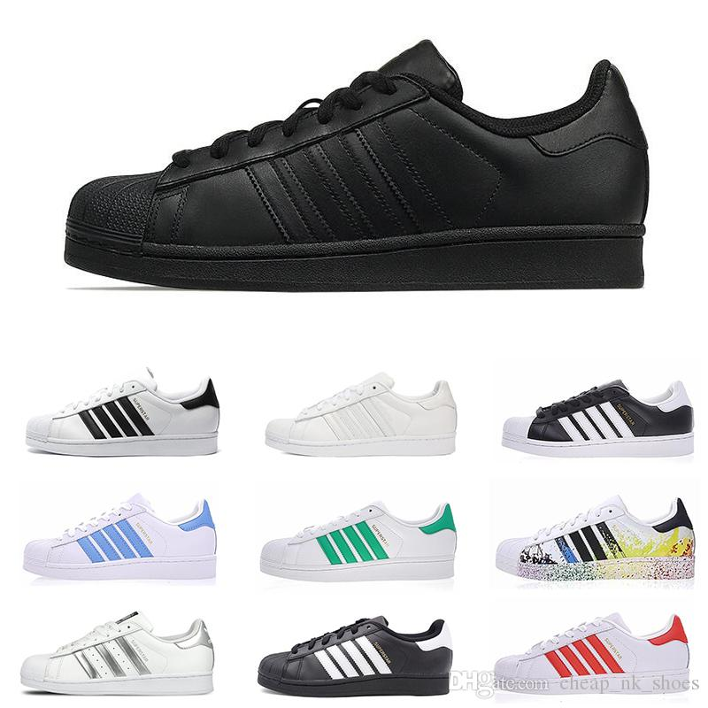 edf062d0e5c4 Cheap Sale Superstar Women Men Casual Shoes White Gold Hologram Iridescent  Junior Superstars 80s Pride Sneakers Fashion Flat Shoe Size 36 45 Formal  Shoes ...