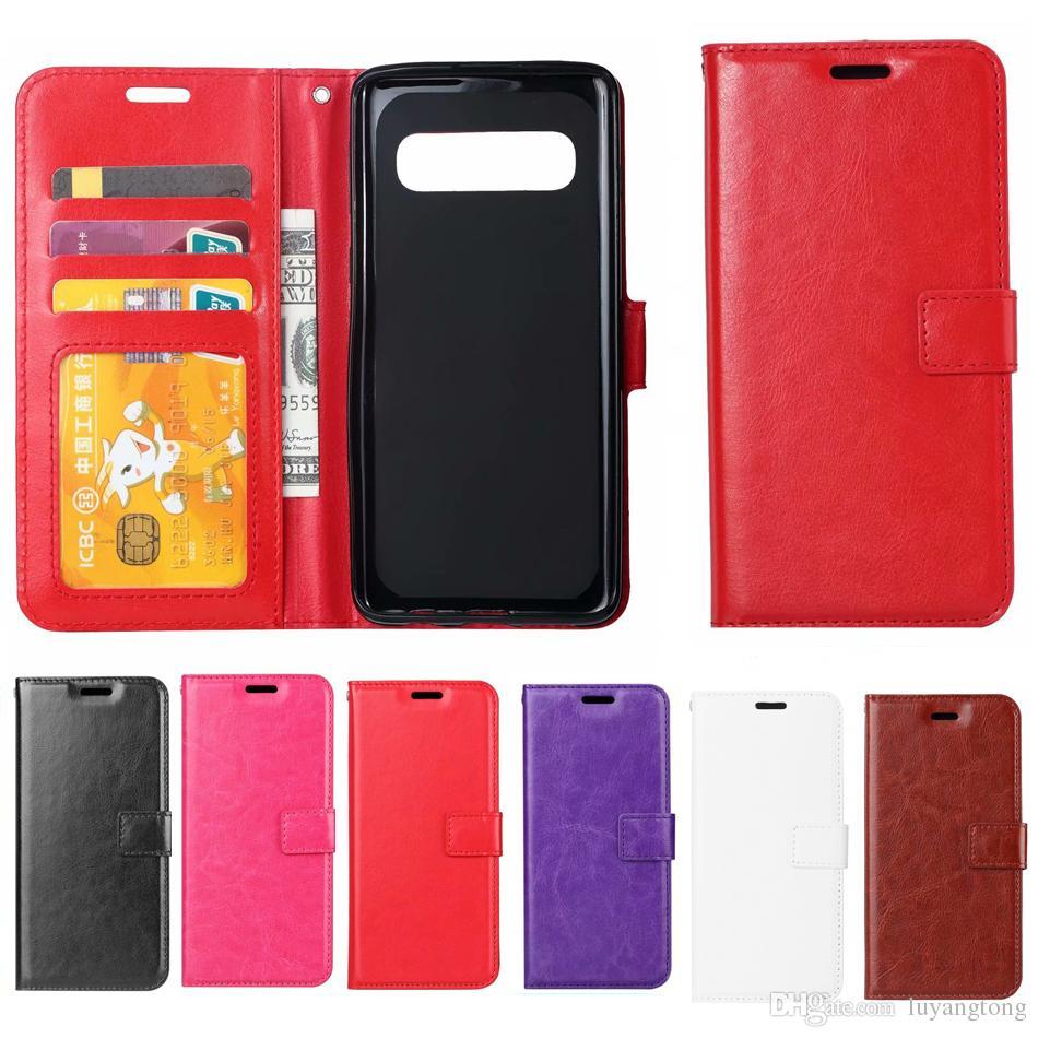 the best attitude 68c56 7a93b GalaxyS10e Leather Case Wallet Cases Cover For Samsung Galaxy S10 Plus Case  Flip Cover S10e S10 Plus S10plus Casing s10