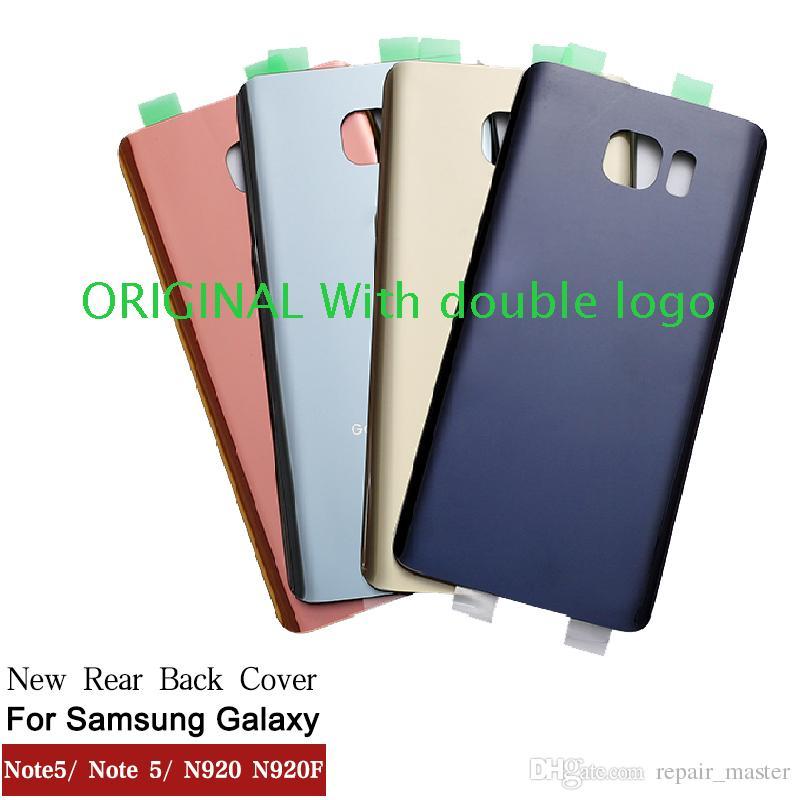 e79e16d2b43 Fundas Para El Celular Nueva ORIGINAL Puerta Trasera De La Batería Para  Samsung Galaxy Note5 Note 5 N920 N920F Volver Cubierta De La Carcasa De  Cristal Con ...