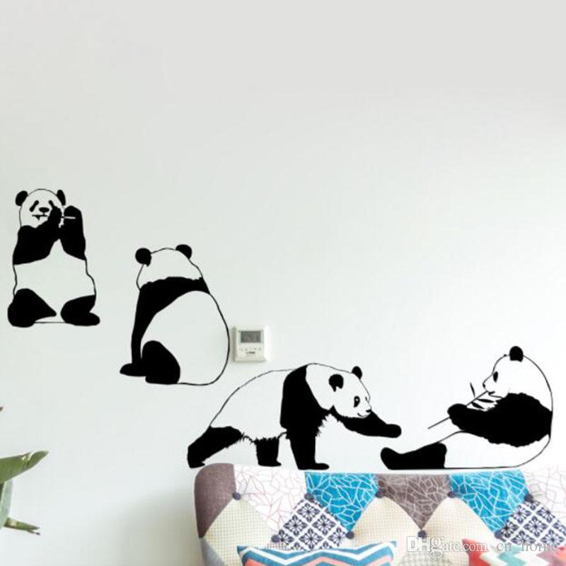 3D Cute Animal Giant Panda Wall Stickers For Kids Room Wallpaper Home Decor Living Room Art Mural Boy Girls Gifts DIY Wall Decor