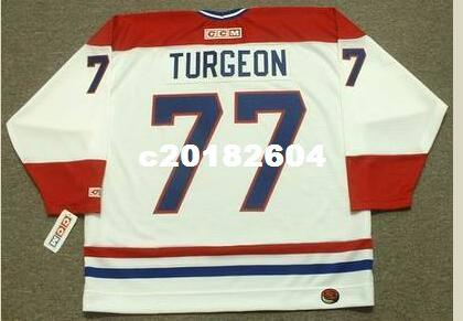 big sale dd22e c32e9 Men #77 IERRE TURGEON Montreal Canadiens 1996 CCM RETRO Hockey Jersey or  custom any name or number retro Jersey
