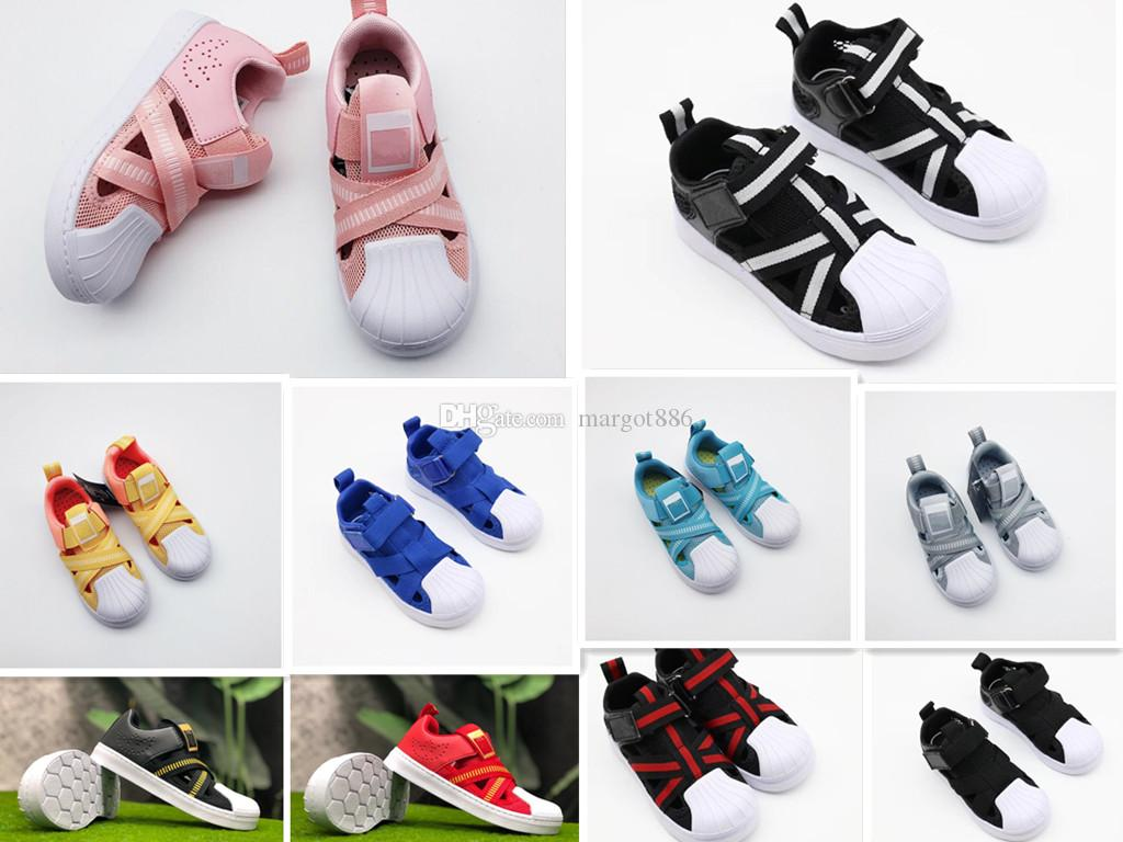 the latest 92c59 33ee2 New 2019 Kids Superstar 360 Athletic Children s sports shoes boys  breathable mesh shoes girls hollow sandals 11 color 26-35