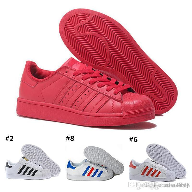 lowest price 5e5c9 f1940 Großhandel 2019 Adidas Superstar Original White Hologramm Schillerndes Junior  Gold Superstars Sneakers Originals Super Star Damen Herren Sport Laufschuhe  ...