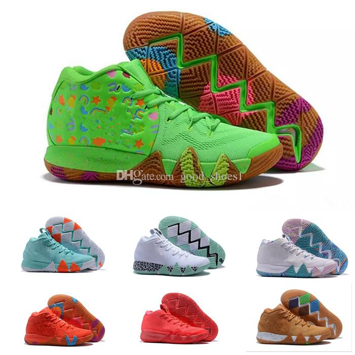 online store bef37 89225 Irving Kyrie 4 4s V Shoes Sneakers Mens Man White 2019 Turbo Bred Magic  Celtics Athletic Baskets Shoes