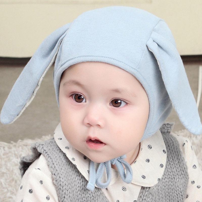 Новорожденные малыши Baby Boy девушка H 2018 Новых милого зайчик уха Pom Hat Зимней Теплого вязание Хлопок Bobble Beanie Cap