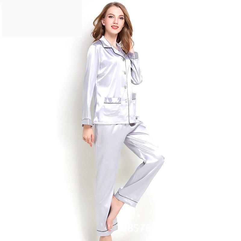 new product 4d7d8 e2204 2019 neue Damen Pyjamas Satin Pyjamas Frauen Schlaf Frauen Schlafkleidung  509