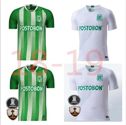 2019 2020 Top quality Atletico Nacional Medellin H.BARCOS Soccer Jersey Colombia Club Medellin Home Football Sports Uniform Football Shirt