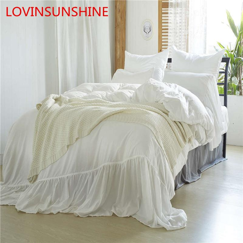 884ee2dd Velvet Solid Colors Fitted Bed Sheet Bedding Cover With Ruffle Quality  Modern Twin Comforter Bedding Set US Size
