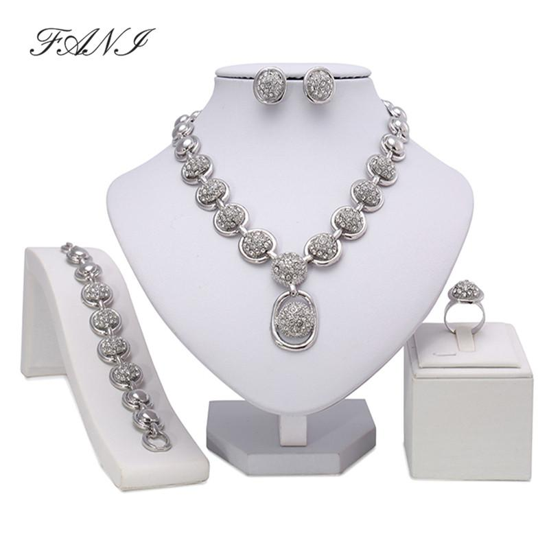 Bridal Gift Nigerian Woman Wedding African Beads Jewelry Set Fashion Dubai Gold Color Jewelry for Wholesale Costume Design