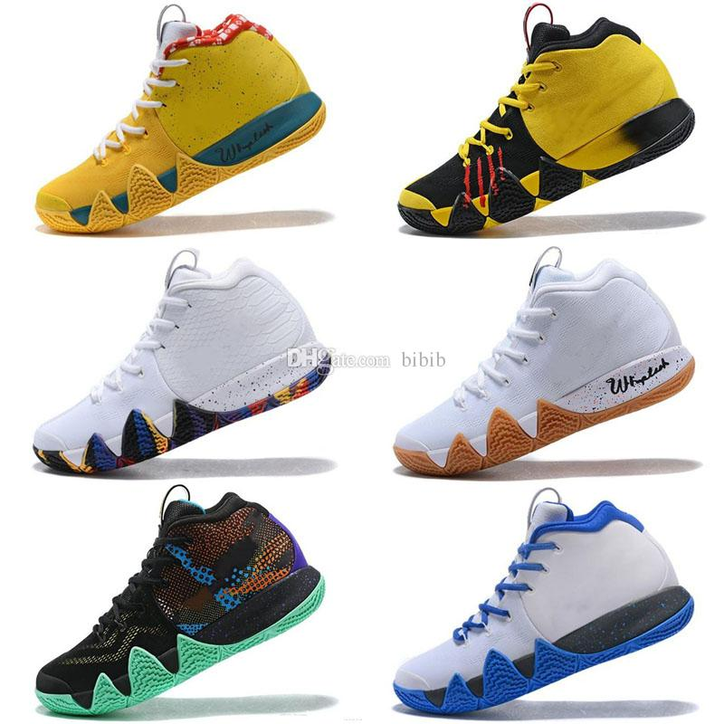 the latest beeca b8a59 2019 kyrie Lucky Charms 4s Men Kids Basketball Shoes 4 IV High Quality  Confetti Color Green Designer Trainers Sneakers
