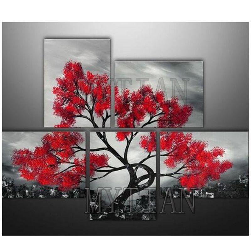 Satın Al 5 Adet Elmas Nakış Manzara Ağacı 5d Diy Elmas Boyama Mozaik