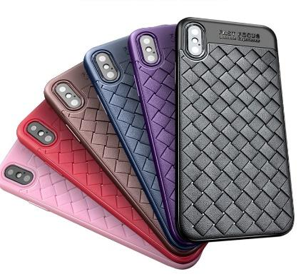 timeless design 66ec8 3cf22 Luxury Silicone Phone Case Grid Woven Weaving Cases For iPhone 6 6s 7 Plus  X XS Max Cover Silicon Accessories Top