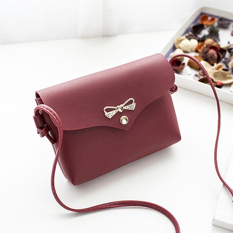 b3bf40483718 Cheap FashionWomen Lady Girl Shoulder Crossbody Bag PU Leather Bowknot  Fashion For Mobile Phone Money Best Sale WT Discount Designer Handbags  Wholesale ...