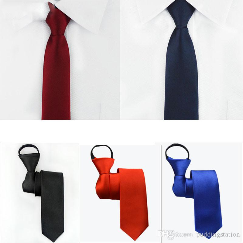 cc5772ccc48d More Choice Neck Tie Mens Skinny Zipper Ties Red Black Blue Solid Color  Jacquard Slim Narrow Bridegroom Party Dress Necktie Cheap Ties Skinny Tie  From ...