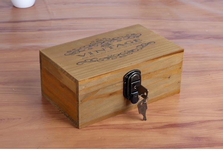 Cash Money Safe Box Case Jewellery Locker Box with 2 keys 22*13*9cm Free Shipping wooden key boxes safe Home Storage