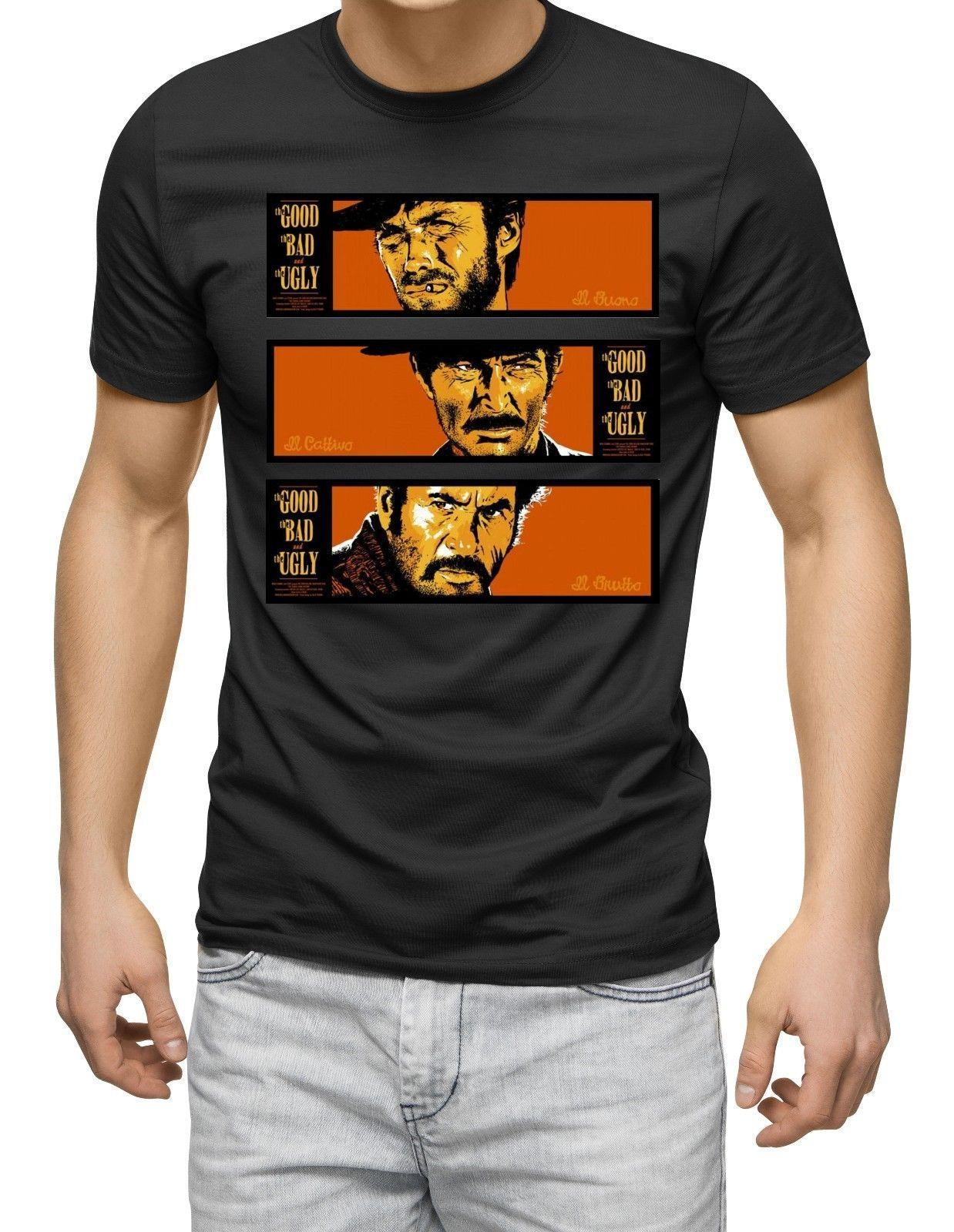 The Good The Bad The Ugly T-Shirt MOVIE FILM COWBOY 60S 70S Clint Eastwood
