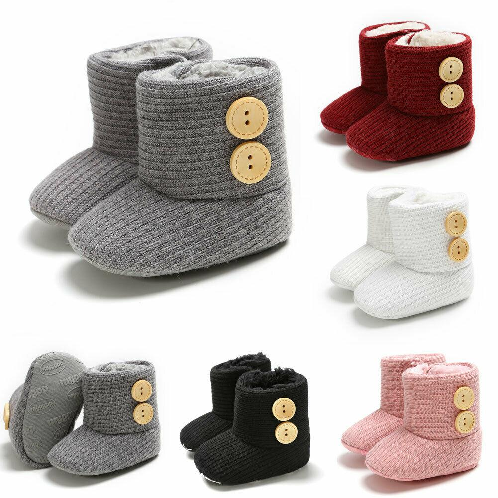 Nacaitang Baby Winter Buttons Snow Boots Warm Shoes Soft Sole Non Slip Toddler Newborn Crib Winter Shoes