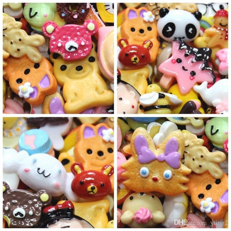 New resin diy jewelry accessories Cell Phone Charms blessing bag food play cake simulation cream mobile phone accessories slime material