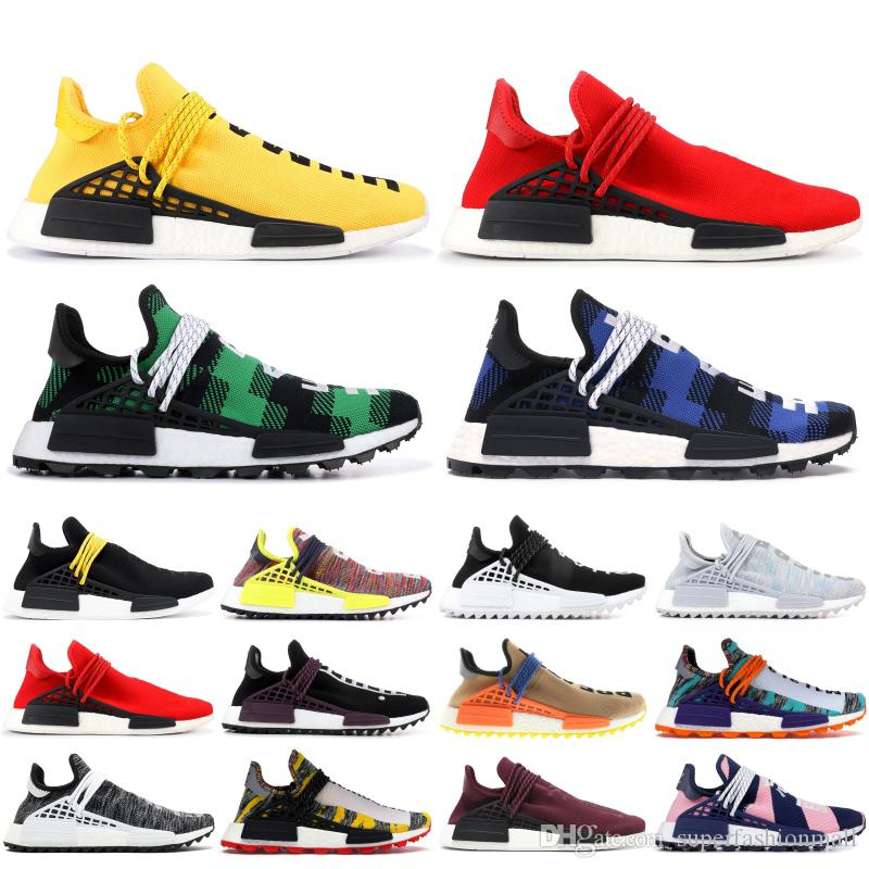 Human Race BBC Made White Red NMD Pharrell Williams Solar Pack Mother Men Women Designer shoes Inspiration Powder Blue Running Sneakers