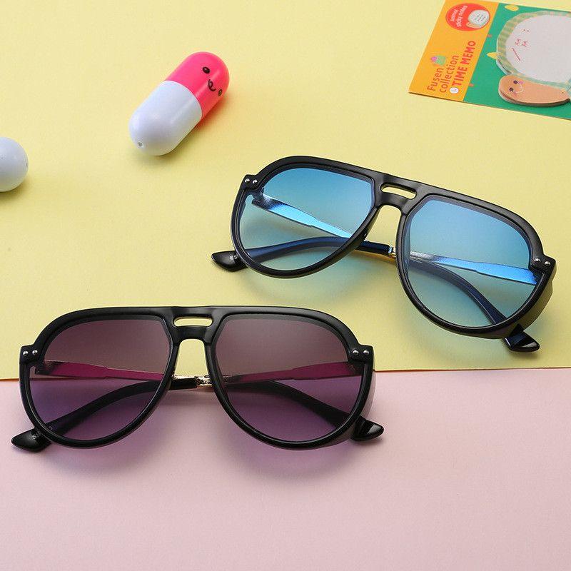255ff4fb89 2019 Kid Sunglass Aviator Sungalesses Baby Girls Boys Sun Glasses Fashion  Beach Supplies UV400 Protective Eyewear PC+Metal Frame Q48 From  Xunyangtrade01