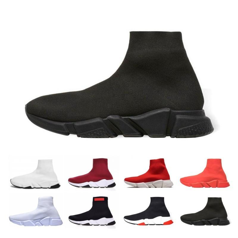 Fashion Designer Socks Shoes Fashion Men Women Sneakers Speed Trainer Black White Blue Mens Casual Shoes Sports G2