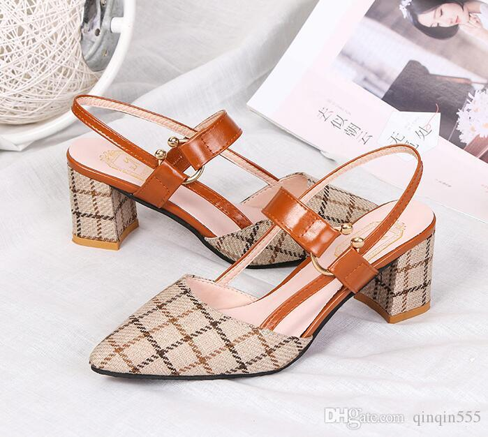 51be80c99bb New Korean Version 2019 Spring And Summer New Low-heeled Shoes ...