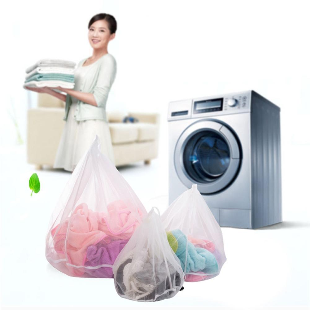 1pc New Novelty Home Washing Mesh Net Bags Laundry Bag Large Thickened Wash Bags Useful Protect Clothes Washer Machine Used Bathroom Storage & Organization