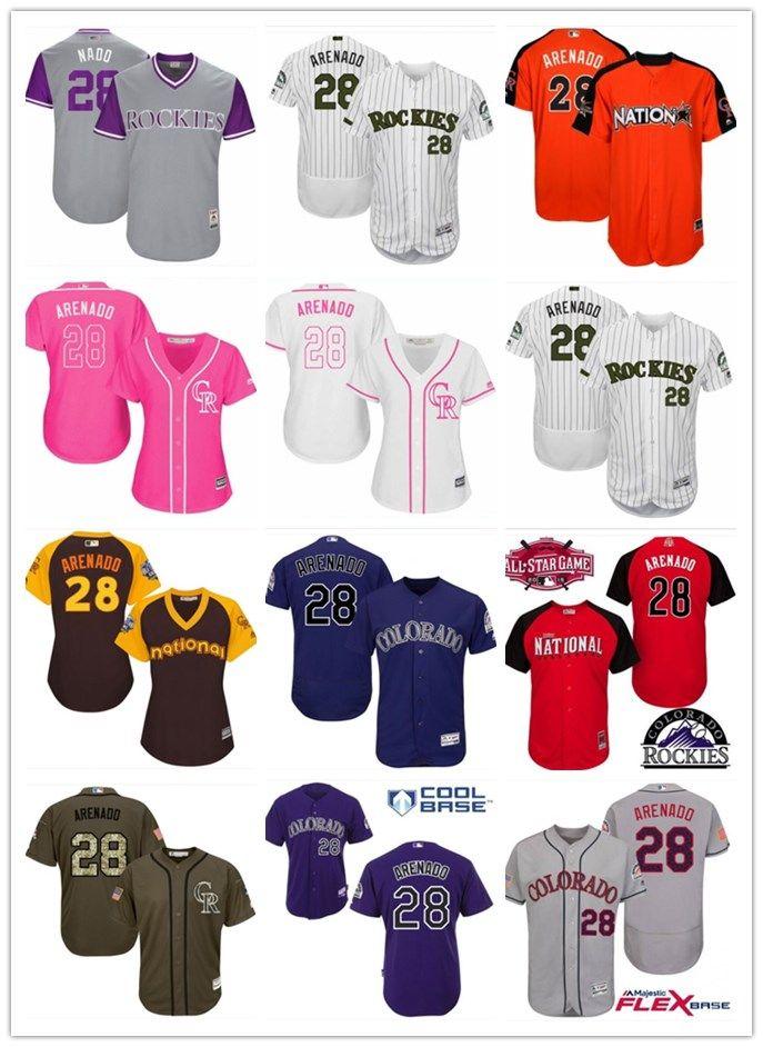 new product 10023 db07b 2018 top Colorado Rockies Jerseys #28 Nolan Arenado Jerseys  men#WOMEN#YOUTH#Men s Baseball Jersey Majestic Stitched Professional  sportswear