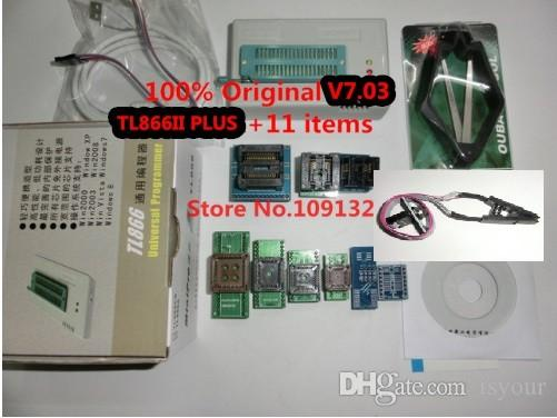 Freeshipping 100% Original New TL866II PLUS Programmer / TL866 Universal  MCU Programmer 11 free Items Replace TL866A