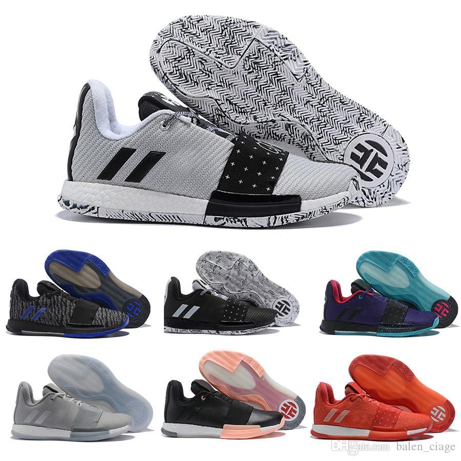 b45ce65215e1 2019 Designer James Harden 3 Vol.3 Men s Vol3 Basketball Shoes High ...