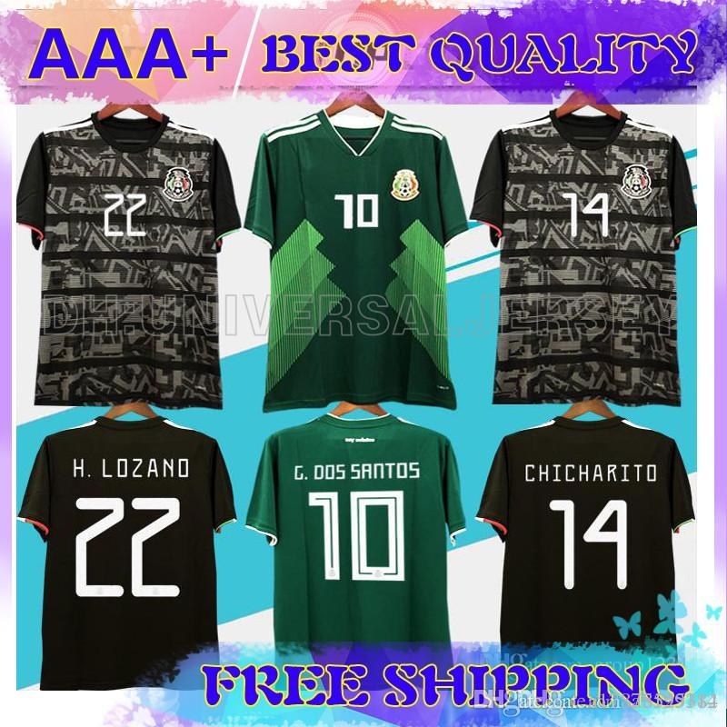 1ab6cb830d93a 2019 2019 Mexico GOLD CUP Black KIT Soccer Jerseys 2018 World Cup ...