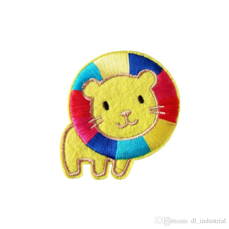 Embroidery patch cartoon lion shape Iron patch cloth Back gum appliques skirt jeans jacket racksack sewing decorative accessories DL_CPIA011