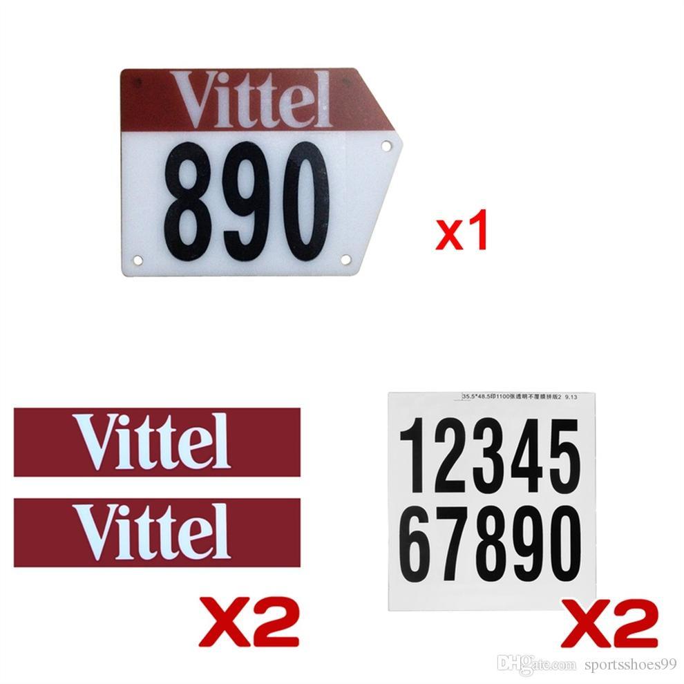 Custom Racing Bicycle Number Plate with Decals Sticker Flags Vittel Numbers  DIY Custom Bike Accessories #316377