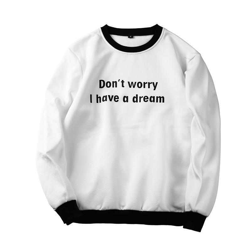 75178c1f New Sweatshirts Cotton Men Hoodies Cool Dream Printed Sweatshirts Men  Clothing Autumn Pullover Solid Men's Hoodies O-neck Thin