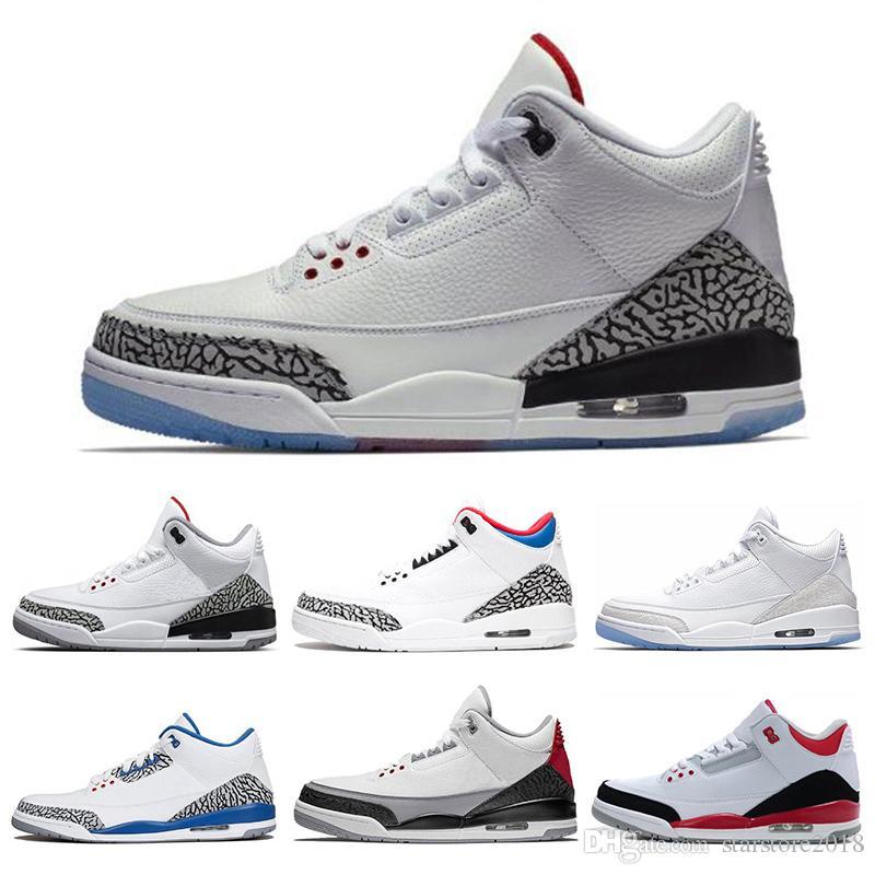 the best attitude 2cb5e 898b8 Acheter Nike Air Jordan 3 3s Meilleure Remise 3 3s Chaussures De Basket  Ball International Flight Black Cement Feu Rouge Ligne De Lancer Libre  Ligne ...