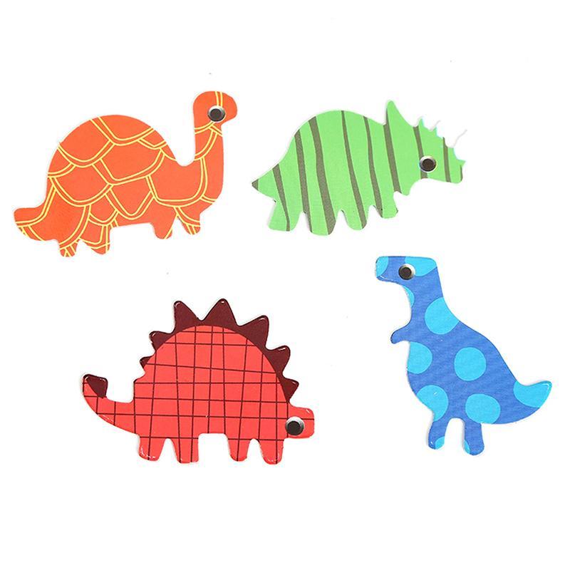 4 adet Dinozor Ekleme Kartı Pick Çocuk Boy Doğum Günü Partisi SuppliesCartoon Cupcake Yonca Kek Dekorasyon