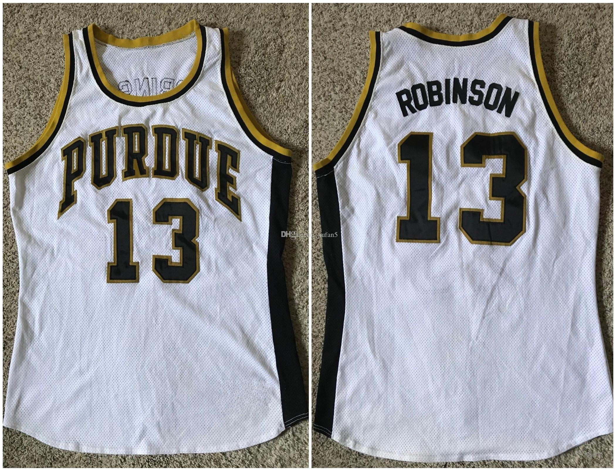 promo code 44d8c 6347e #13 Glenn Robinson Purdue Boilermakers College Retro Basketball Jersey Mens  Stitched Custom Number Name Jerseys