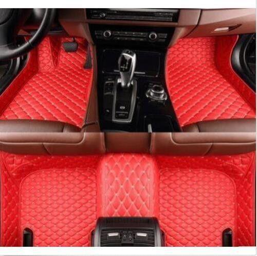 2018 Veeleo Custom Fit Leather Car Floor Mats For Audi A1 A3 A4 B8