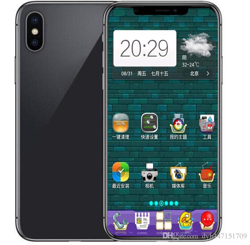 Seal box goophone ix face ID 5 8inch cellphone Quad Core MTK6580 1G RAM 8g  ROM show Fake 256g 3G WCDMA