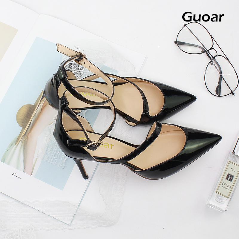 9035ee2728cfc9 Elegant OL Pointed Strap Red Bottom High Heels 8.5cm Stiletto Heel ...