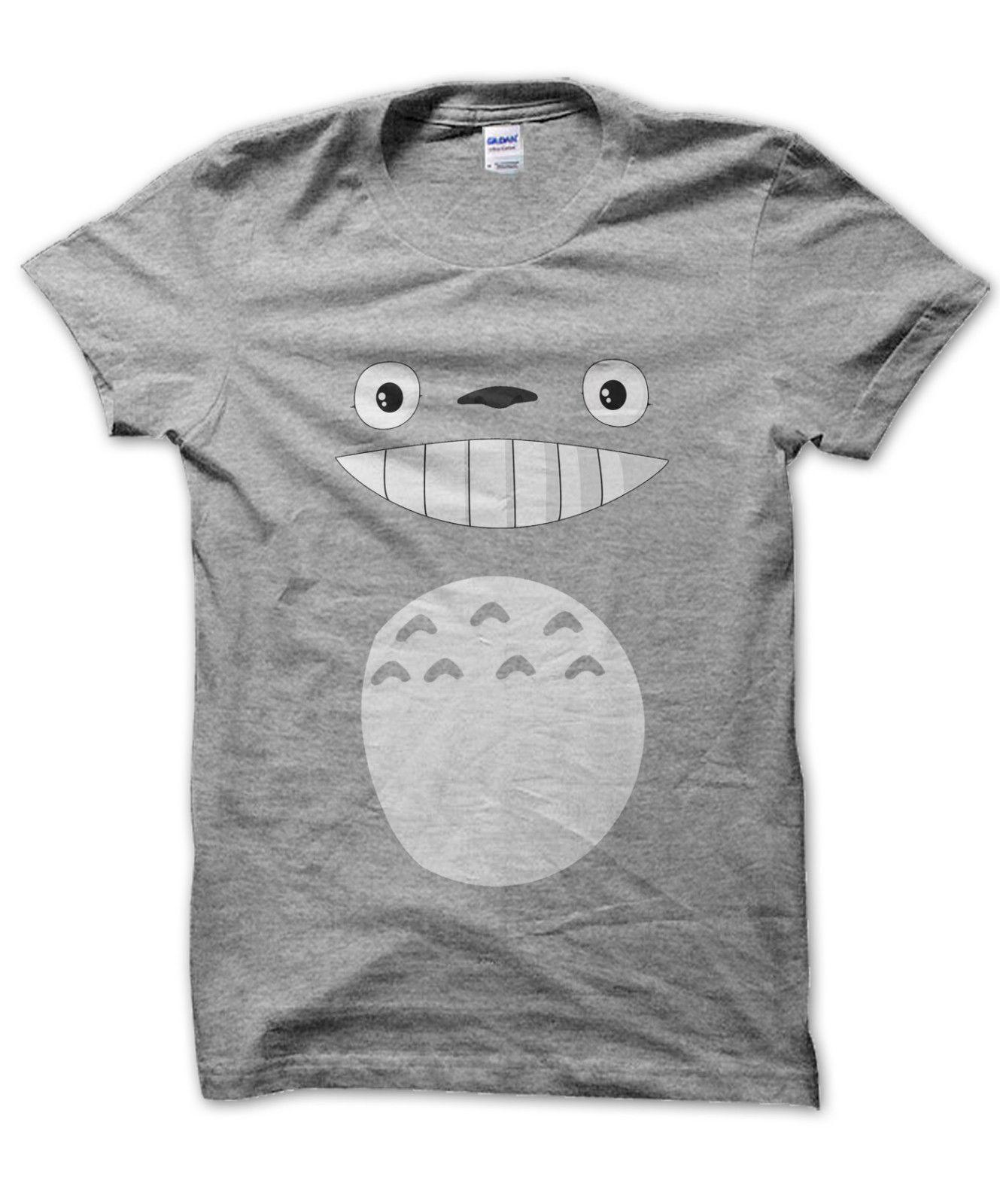 1b5c6552bef1e Totoro Face And Body Unisex T-shirt Studio Ghibli Cute Present Anime Gift  Men 2019 Summer Round Neck Men's T Shirt. Store-wide Discount