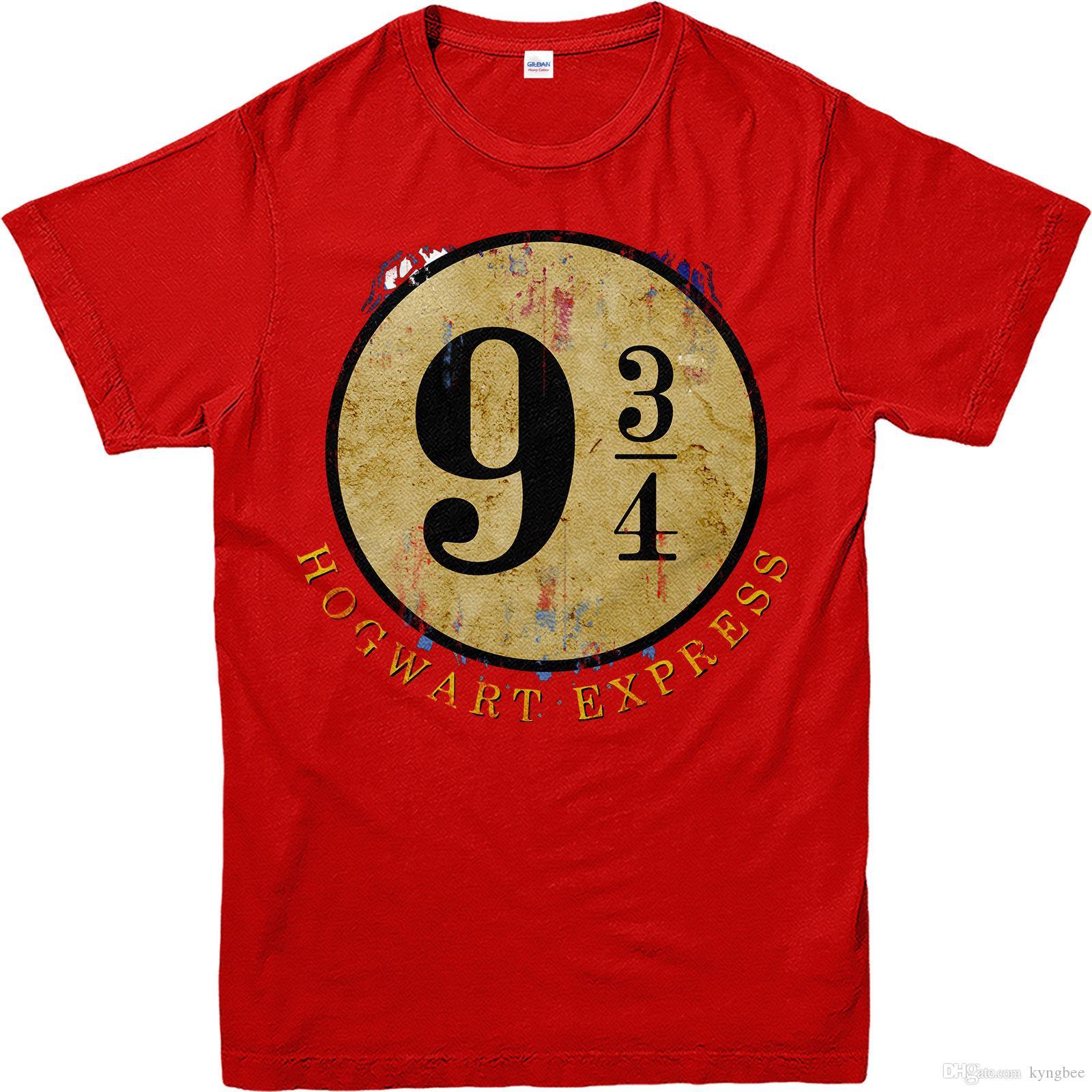 1ff04f4b4 Compre Camiseta Harry Potter, Plataforma 9 3/4 Hogwarts Express T Shirt,  Inspirado De Kyngbee, $12.7 | Pt.Dhgate.Com